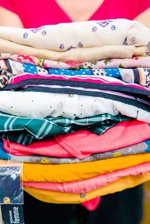 vêtements et textiles usagés pour recyclage